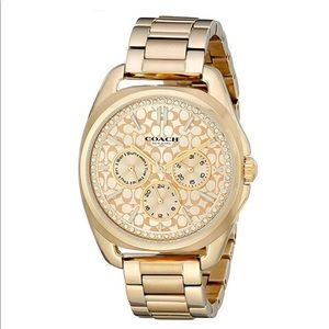 Authentic Coach Teagan Gold-plated  women Watch